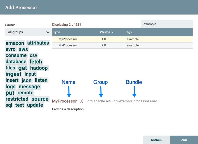 Add Processor Version Example