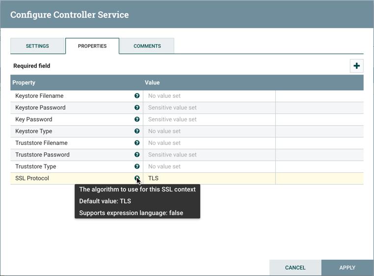 Configure Controller Service Properties