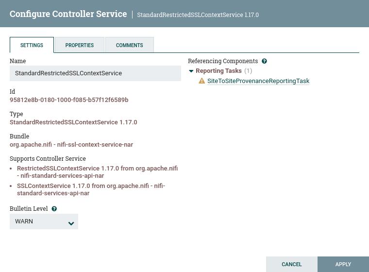 Configure Controller Service Settings