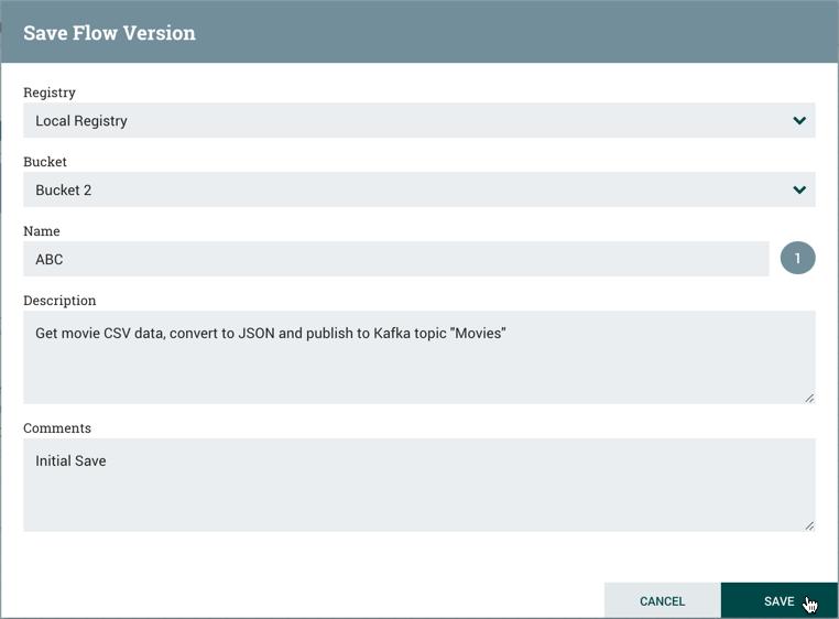 Save Flow Version Dialog
